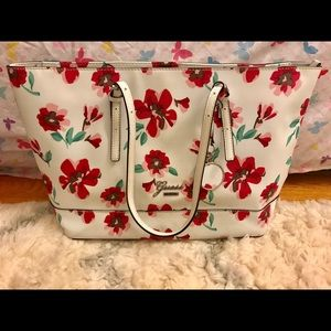 Guess Limited Spring Flower Large Tote Bag